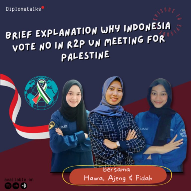"""Brief Explanation Why Indonesia Vote """"No"""" in R2P UN Meeting For Palestine"""